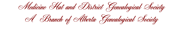 Medicine Hat and District Genealogical Society 